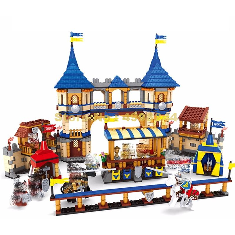Ausini 27908 1467 sztuk knights castle royal arena building block cegły zabawki w Klocki od Zabawki i hobby na  Grupa 1