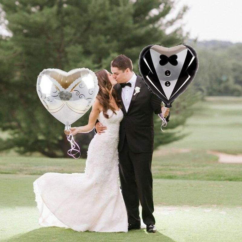 1pc Romantic Wedding Room Dress <font><b>Decoration</b></font> <font><b>18</b></font> Inch Heart Shaped Love Aluminum Film Balloon Valentine's Day Party Pink Balloons image