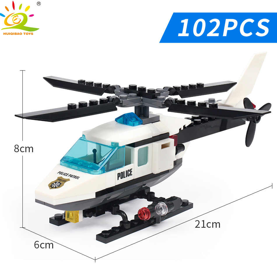 102 PIECE POLICE HELICOPTER    ~   BUILDING BLOCKS SET   ~  NEW! US SELLER!!