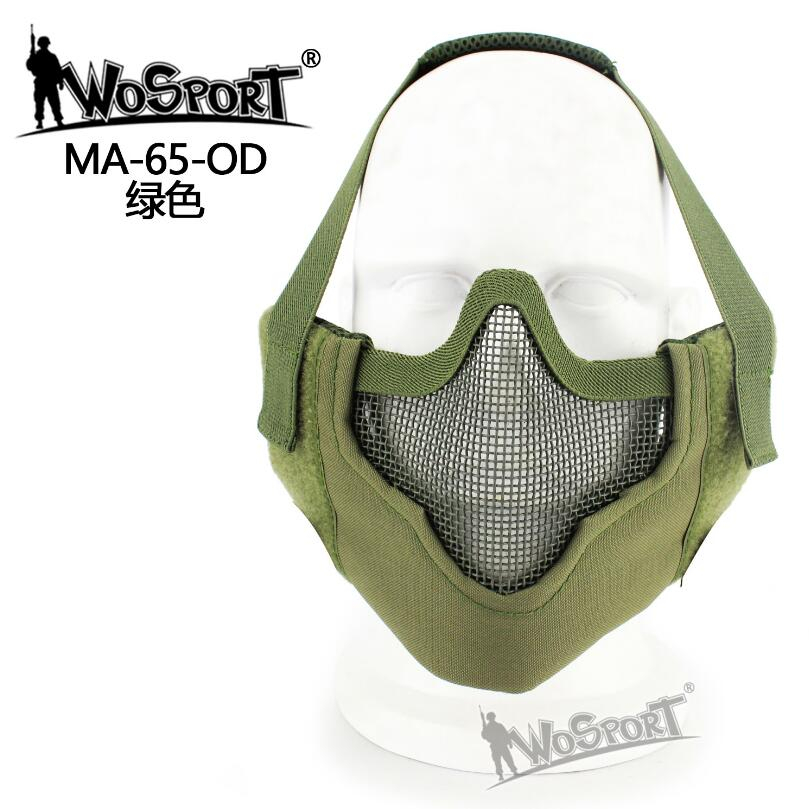 WoSporT Half Face V8 Steel Net Steel Mesh Military Tactical Protective Mask For Airsoft Field Military Game Cosplay Training