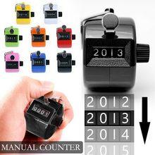 4 contador eletrônico portátil display digital contador mecânico contagem manual temporizador futebol golf sport counter 8 cores