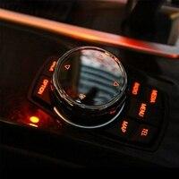 Multimídia carro Tampa Do Botão Botão Quadro Apare para BMW F10 F20 F30 para NBT Controlador Apenas Botão de Cerâmica para IDrive adesivos automotivos internos     -