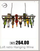 Hdf350b4124724a158ccbc1d4fad2c503X Loft retro Hanging Wine Bottle led ceiling iron Pendant Lamps E27 LED pendant lights for living room bar restaurant Kitchen home