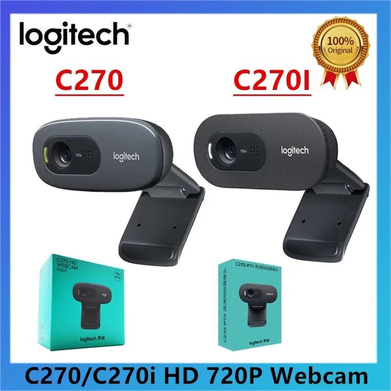 New Logitech C270 C270i 720p Hd Webcam Built In Microphone Web Camera Usb2 0 Free Drive Video Chat Recording Usb Camera Webcams Aliexpress