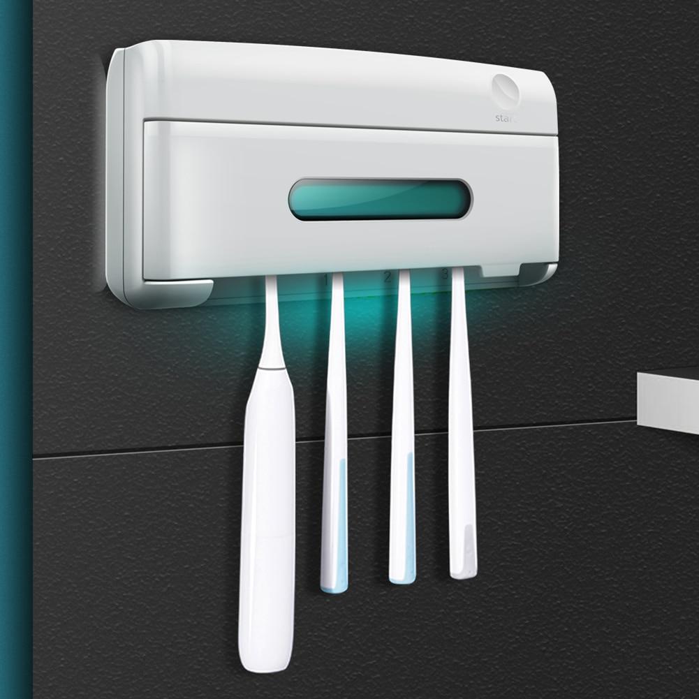Household Disinfection Sterilization Tools Wall Mounted Quartz UV Toothbrush Razor Sterilizer Box Bathroom Accessories
