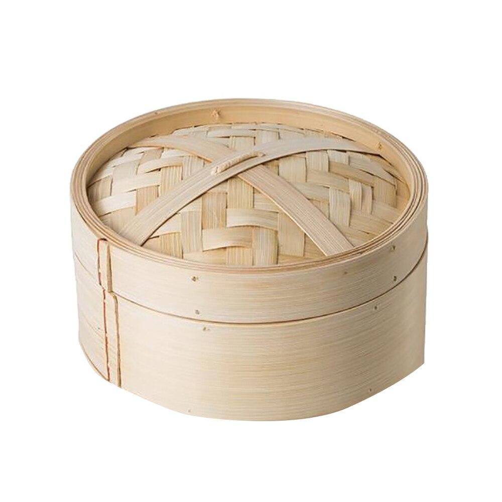 Bamboo Steamer One Cage Lid For Fish Vegetable Snack Basket Set Kitchen Cooking Tools Dumpling Steamer Cookware