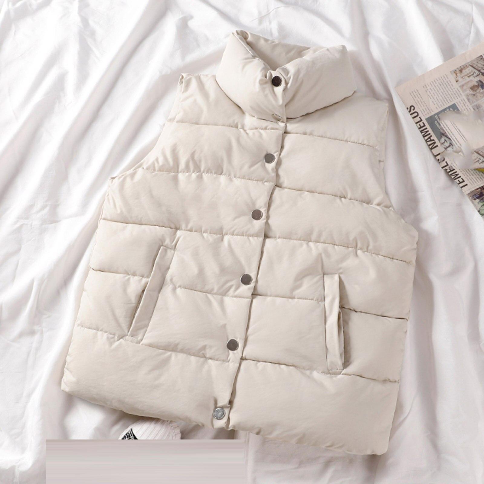 Модный женский однобортный жилет с карманами, женский жилет, пуховая куртка без рукавов, женский жилет, женский жилет