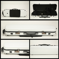 Violin Box Composite High Hardness, Wear Resistance and Compression Resistance 4/4 Box FRP Carbon Fiber Ribbon  case