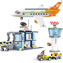 678Pcs City International Airport Aviation Technic Model Building Blocks Sets Plane Figures DIY Bricks Educational Toys 1pc the hobbits lord of the rings knight diy figures assemble model diy building blocks sets kids educational toys gift xmas