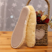 1 Pair Winter Warm Wool Insoles Women Men Breathable Sweat-proof Warm Imitation Fur Thick Insoles Keep Warm Boot Shoe Soles Pads(China)