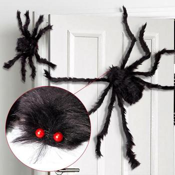 Halloween Scary Party Scene Props Red Eyes Plush Stretchy Cobweb Spider Web Horror Halloween Decoration For Bar Haunted House halloween scary party scene spider decorative props joking birthday toys diy halloween simulation plush spider decorative
