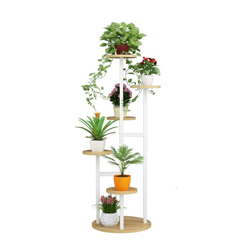 Shelf A Living Room Household Multi-storey Indoor Ground Iron Art Balcony Flowerpot Shelves Flower Rack