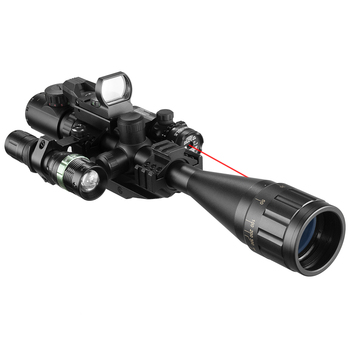 6-24X50 Aoeg Optical Sight Red Dot Holographic Green Laser Tactical Combination Rifle Scope Crossbow Hunting 4