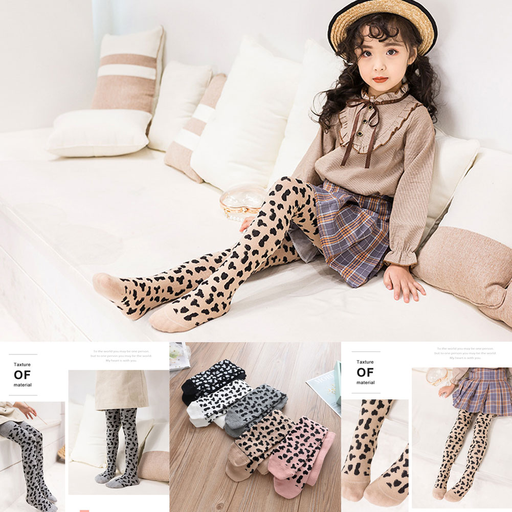 2019 Brand Fashion Baby Girls Leopard Pantyhose Kids Children Autumn Winter Long Tights For 3-8Y