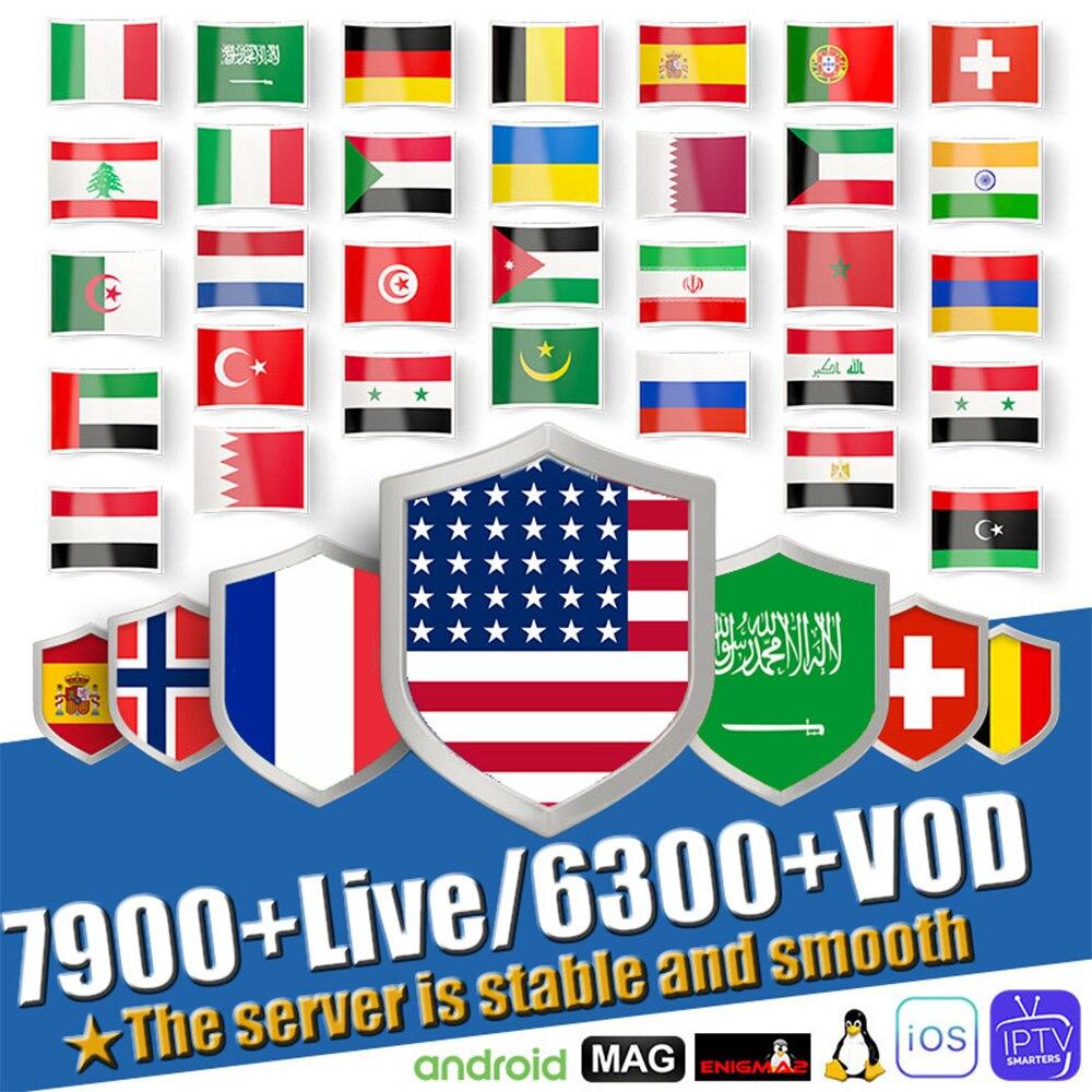 1 Year Europe US UK Brazil Poland Spain German IPTV Subscription 7500+Live  HD IPTV M3u Enigma2 Vod Sports Adult Free Test