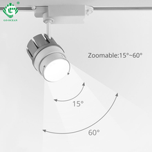 купить Modern 30W LED Track Light Zoom Black Rail Shop Store Lighting Spotlight Fixture Kitchen Ceiling Showroom Spot Rail Zoommable по цене 1477.7 рублей
