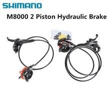 Shimano Deore XT M8000 M8100 hydrauliczny zestaw hamulcowy Ice Tech chłodzenie klocki przód i tył do części rowerowych mtb 800/1500mm