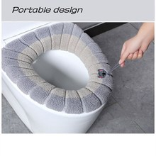 Case Lid-Cover Coral Closestool-Mat Seat Bathroom Household Winter Velvet Comfortable