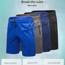 Men Training Quick Dry Fitness Gym Sport Shorts With Front Back Pocket Basketball Sport Shorts