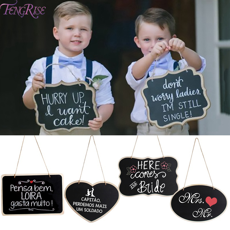 FENGRISE Mini Wooden Chalkboard Mr Mrs Wedding Rustic Wedding Decoration Party Wedding Decoration For Wedding Event Party Supply