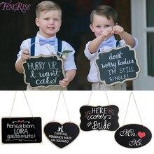 Mini pizarra de madera FENGRISE, Sr. Sra., boda, decoración rústica, fiesta, boda, decoración para suministro para eventos de fiesta