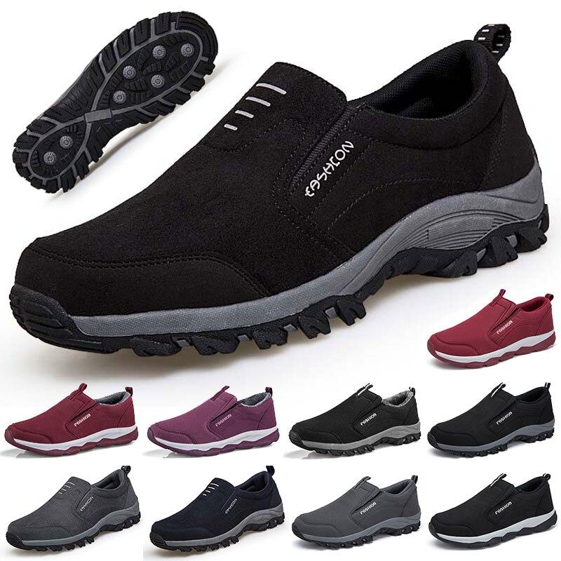 Мужские прогулочные туфли, удобные носимые, для улицы, прогулок, бега, зимние кроссовки, для женщин