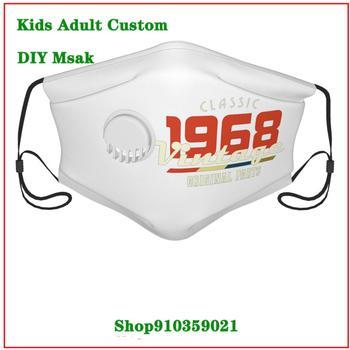Most popular washable mask face mask reusable Vintage 1968 Classic mouth mask reusable kids masque en tissu lavable enfant