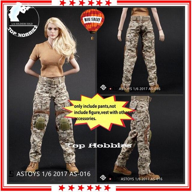 16 ASTOYS AS016 marine SEAL désert numérique désert vêtements Cam femmes pantalons de guerre pour 12