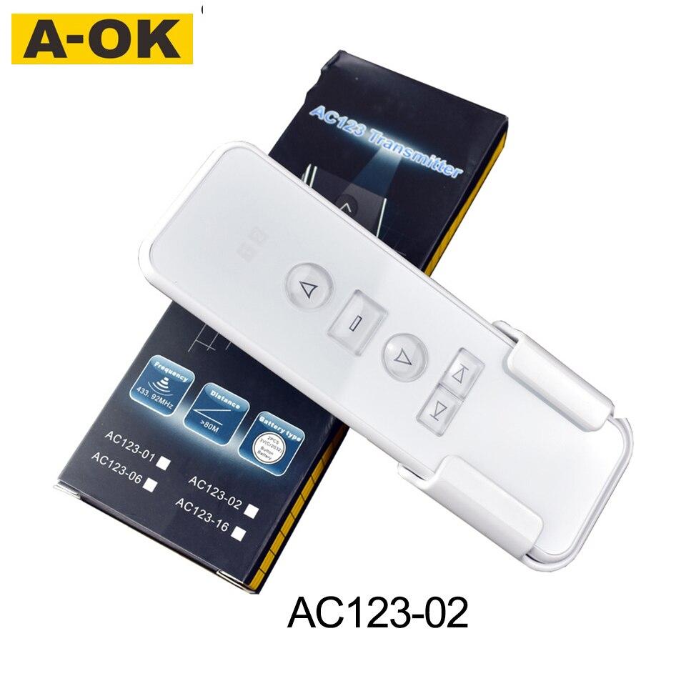 Original Aoke D Electric Curtain Remote Controller, Multi-channel Remote Control For AOK Curtain Motor Smart Home Preferred