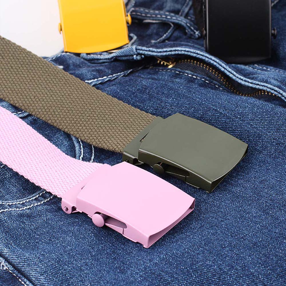 Unisex Canvas Fashion Waist Dress Belts for Men Women