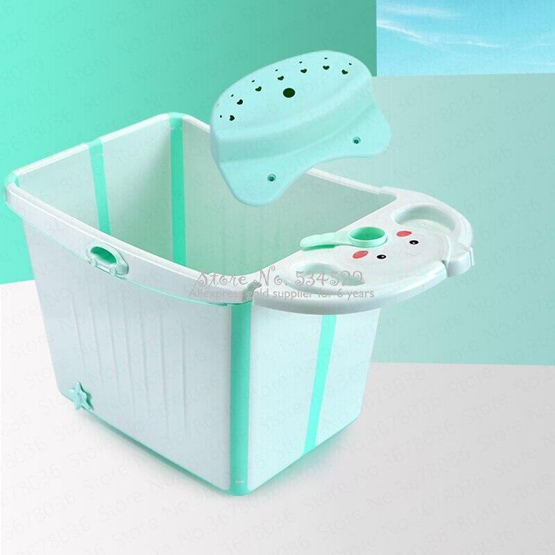 21% bébé baignoire pliante seau de bain pour enfants grand ménage peut s'asseoir bébé baignoire enfants baril de bain baril de bain