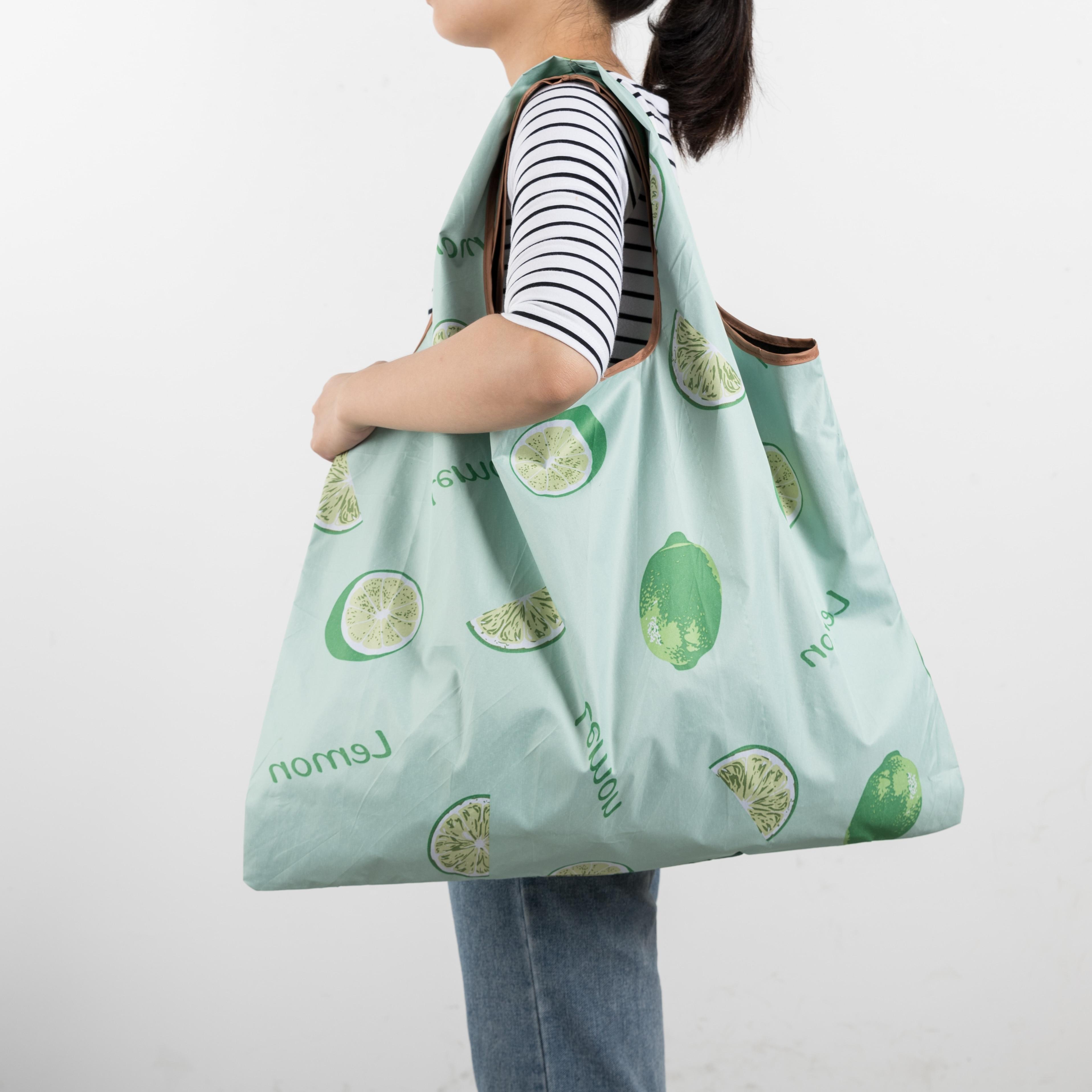 MABULA Eco friendly Cartoon Grocery Foldable Tote Handbag Reusable Portable two Size Washable Portable Travel Shopping Bags|Shopping Bags| - AliExpress