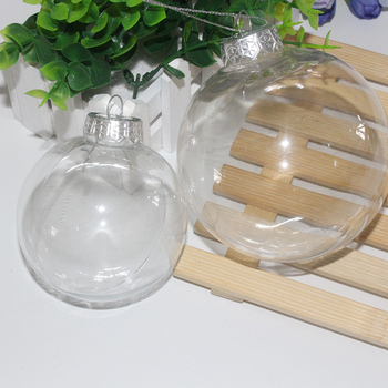 2020 Christmas Tree Ornaments Transparent Christmas Ball Hanging Pendant Plastic Light PET Ball Park Party Home Decor image