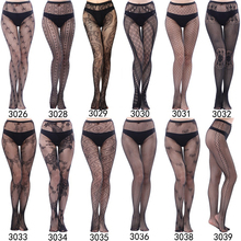 Sexy Lady Pantyhose Black Glamour Skinny Fishnet Stockings Various Style Women's Tights Spandex material S30 series 3