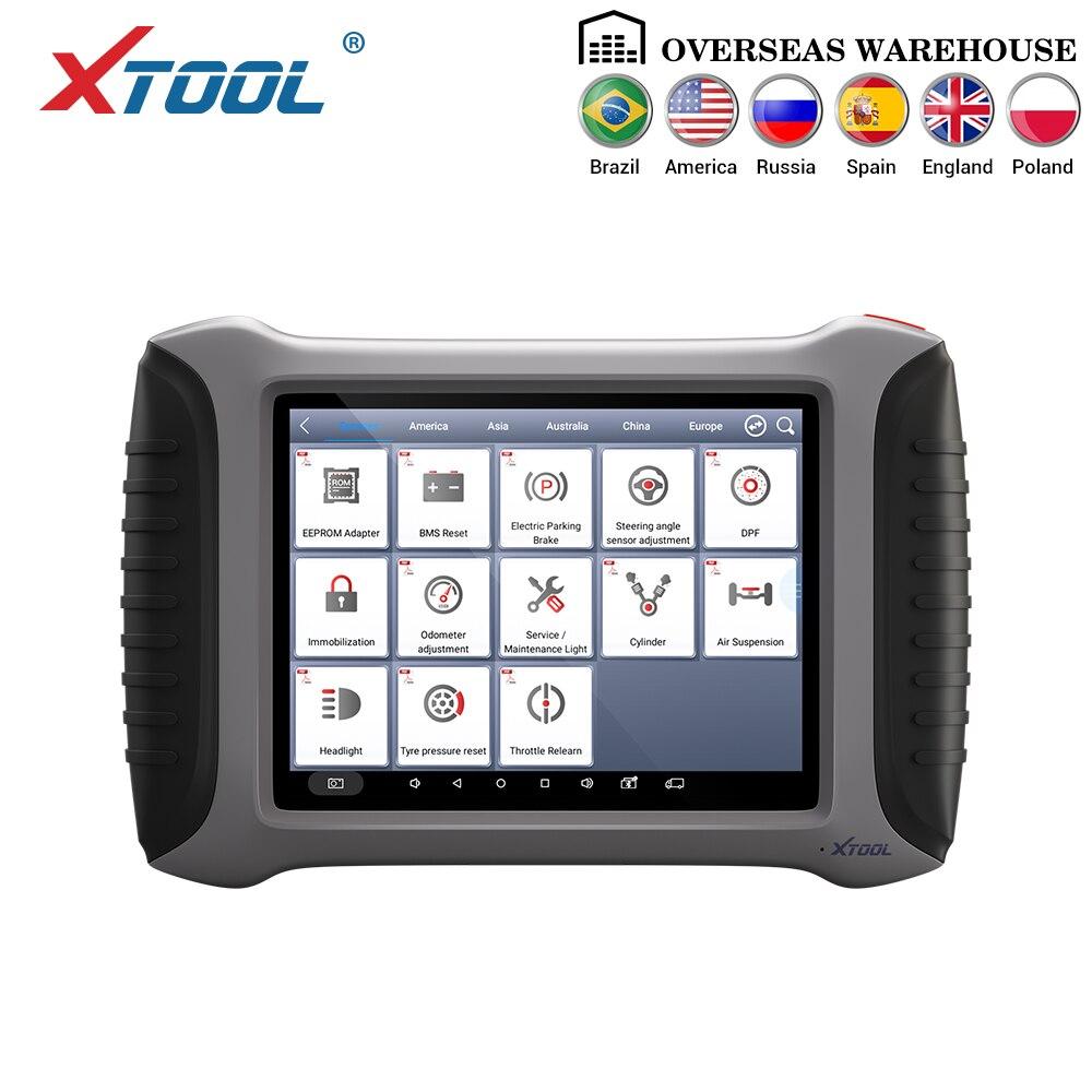 Xtool a80 com bluetooth/wifi sistema completo ferramenta de diagnóstico do carro ferramenta de reparo do carro obdii programação do veículo/ajuste odômetro