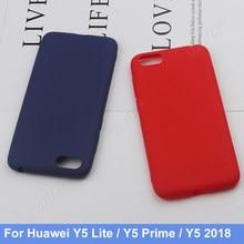 Para huawei y5 2018 y5 prime/y5 lite 2018 silicone tpu telefone macio fosco volta caso capa coque funda