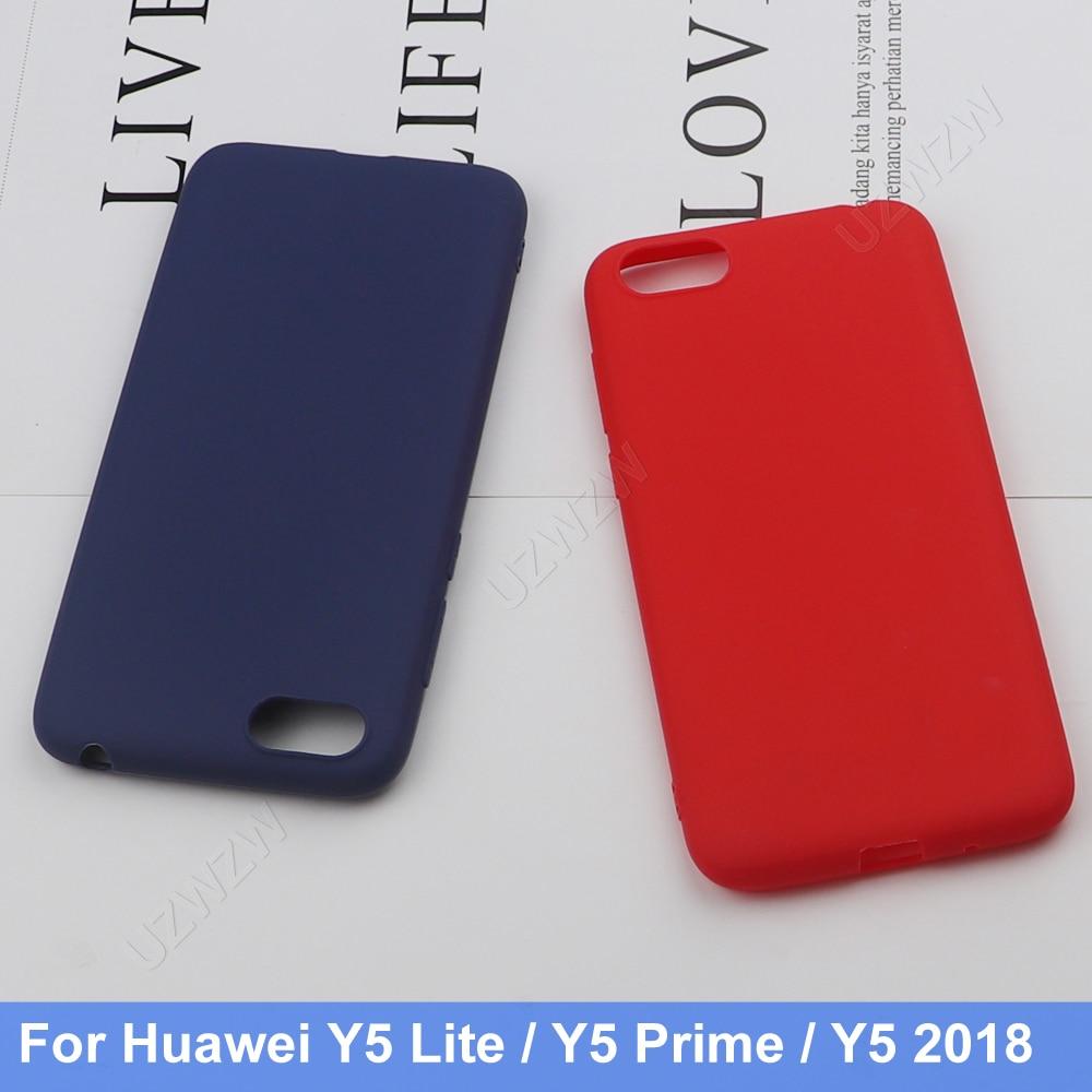 Voor Huawei Y5 2018 Y5 Prime / Y5 Lite 2018 Siliconen Tpu Zachte Telefoon Matte Case Cover Coque Funda