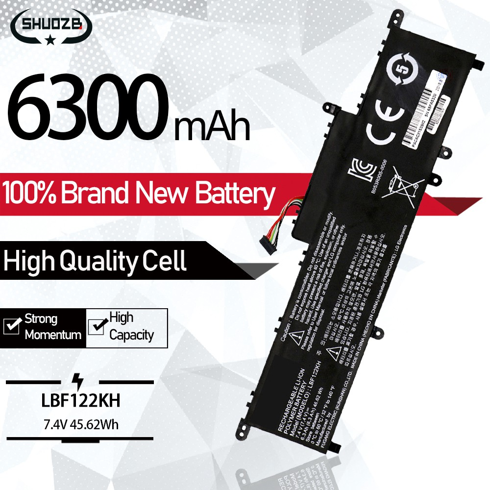 LBF122KH Laptop Battery Original Cell For LG Xnote P210 P220 P330 Series Tablet Notebook Batteries 7.4V 6300mAh 46.62Wh