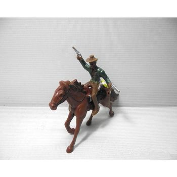 1:100 Western Cowboy Model Layout HO Scale People Figure Models Sand Table Toys Q6PD image