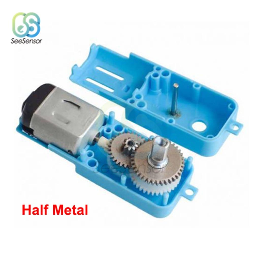 3 V-6 V 1: 90 singolo Albero Ingranaggi In Metallo Motore All Metal/Metà del Metallo Robot Veicolo Intelligente Riduttore di Velocità TT di Uscita del Motore 110RPM