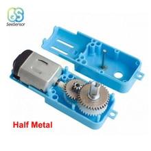 3 V-6 V 1: 90 pojedynczy trzpień metalowy motoreduktor cały Metal/pół metalowy Robot inteligentny pojazd reduktor prędkości silnik tt wyjście 110RPM