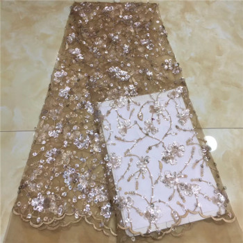 Sequin Lace Fabric African Party Lace Fabric High Qualtiy French Nigerian Net Lace Fabric Embroidery for African Fabric X8