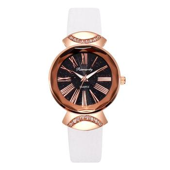 Luxury Fashion White Women Watches Roma Dial Retro Ladies Wristwatches with Bamboo Knot Leather Band Casual Female Quartz Watch fashion deer head dial design hand made light wood watch with brown genuine leather strap bamboo wristwatches for men women