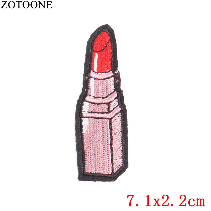 ZOTOONE Lipstick Heart Patch Lips Rocket Stickers for Kids Iron on Patches for Clothing Heat Transfer Diy Accessory Appliques G in Patches from Home Garden