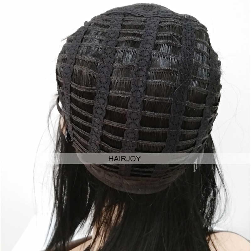 Hairjoy jet peruca preta cosplay, cabelo sintético curto fibra resistente ao calor