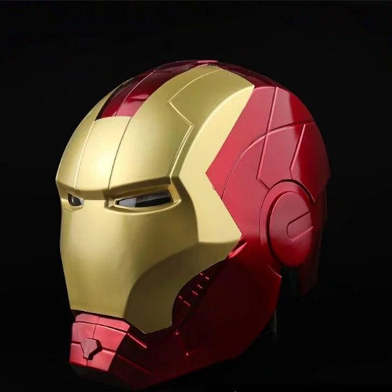 Avengers fer homme casque Anime Ironman masque 1:1 échelle hommes visage complet casque PVC figurine modèle Cosplay Prop jouets poupée cadeau