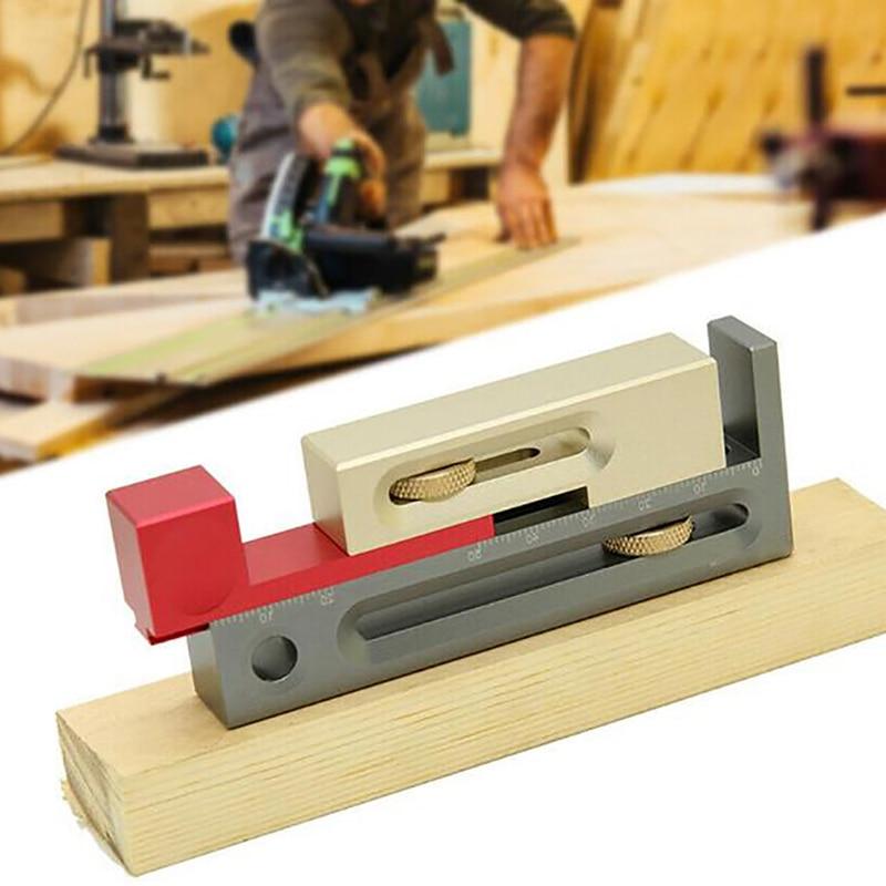 Three-Color Sliding Table Saw Slot Adjuster Mobile Measuring Block Length Compensation Woodworking Tool