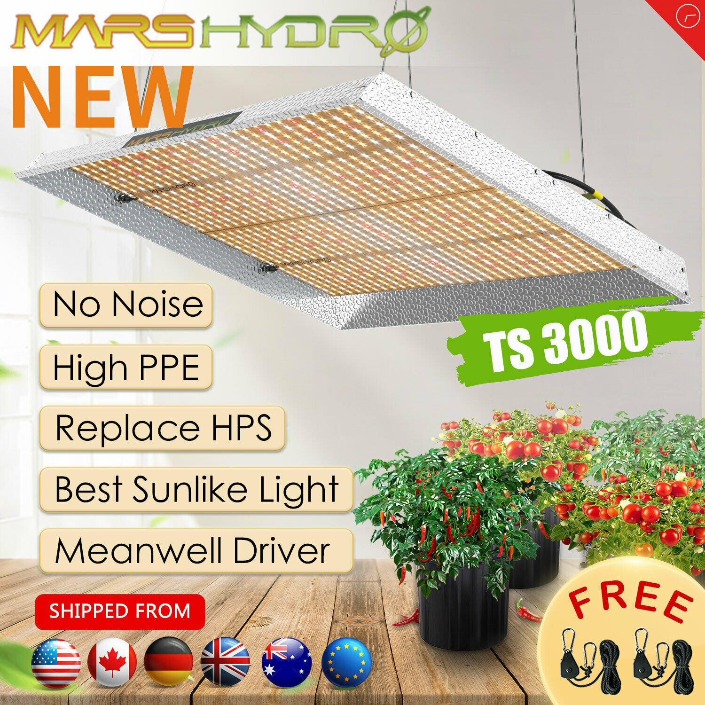 Più nuovo Mars Hydro TS 3000W LED Coltiva La Luce Quantum Bordo Full Spectrum Veg Fiore per Tutte Le Fasi di Piante