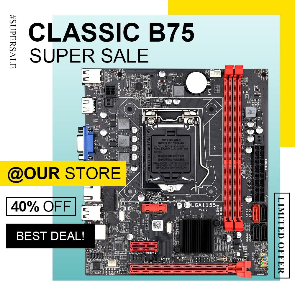 DAIXU B75M настольная материнская плата B75 LGA1155 для i3 i5 i7 CPU поддержка ddr3 ПАМЯТЬ до 16 Гб|Материнские платы|   | АлиЭкспресс