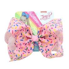 8'' Jojo Siwa Large Bows with  Alligator Clips Kids Rhinestone Hair Clip Cheer Jojo Bow Grosgran Hair Accessories Chirstmas Gift